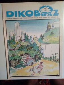 Časopis, Dikobraz, č. 23/1979, zachovalý stav