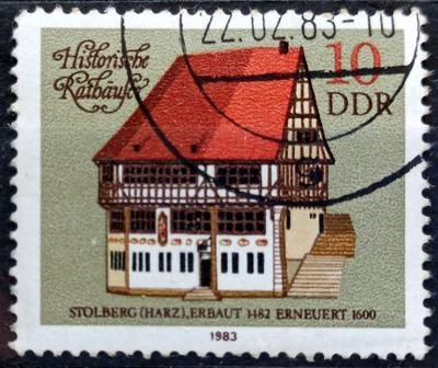 DDR: MiNr.2775 Stolberg (1482) 10pf, Frame Houses Issue 1983