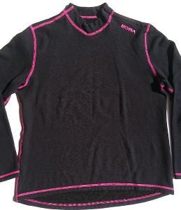 MOIRA PLYŠ černé funkční triko dl. rukáv vel. XL