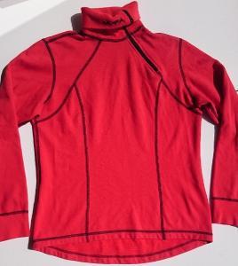 MOIRA PLYŠ červené funkční triko dl. rukáv vel. L