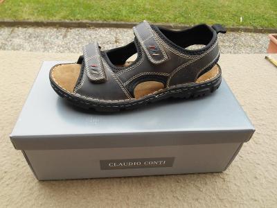 Nové pánské kožené sandály zn. Claudio Conti  vel. 43