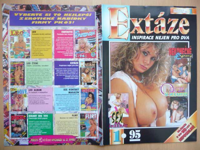 Erotický časopis - EXTÁZE - číslo 1 z roku 1995 - Erotická literatura