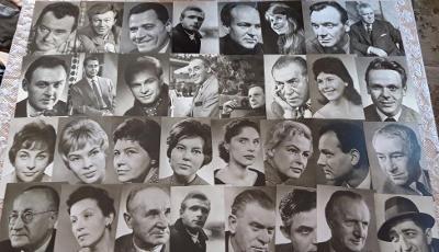 68 pohlednic herců a zpěváků - Matuška Marvan Kopecký Pešek Medřická