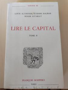 Althusser, Balibar, Establet - Lire le Capital . dil II(1966)