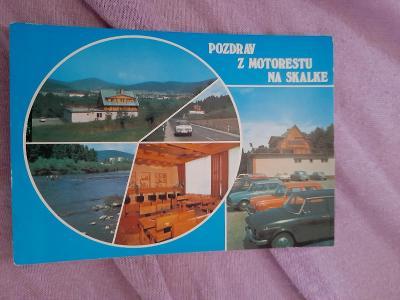 Pohlednice Pozdrav z Motorestu na Skalke - Radola,prošlé poštou