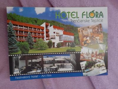Pohlednice Hotel Flóra,Trenčianske Teplice,neprošlé poštou