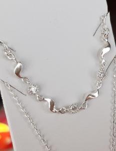 Nový stříbrný náhrdelník se zirkony Ag 925/1000