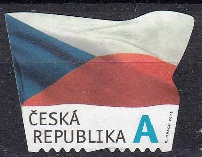 Česká republika 2015 Pof.867 razítkovaná, prošla poštou