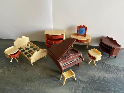 Pokojíček pro panenky zn. Jean W. Germany - 70. léta - pěkný