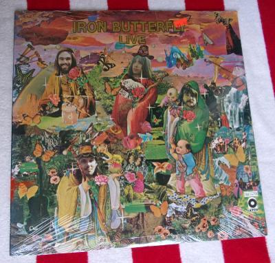 🔥 LP: IRON BUTTERFLY - LIVE, orig USA ℗1970 MINT!! Stále zapečetěné!!
