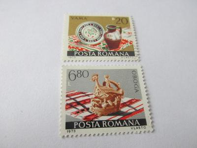Známky Rumunsko 1973, Rumunská keramika