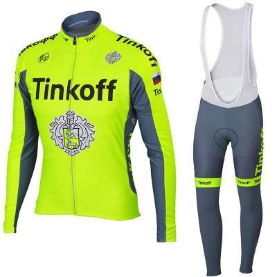 zimní komplet cyklo dres Tinkoff FLUO vel. M - ihned