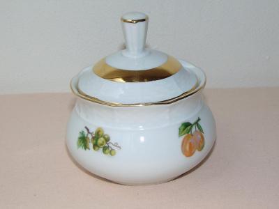 Cukřenka s obrázkem ovoce, retro porcelán