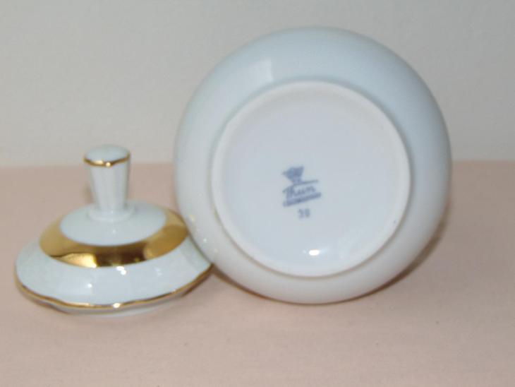 Cukřenka s obrázkem ovoce, retro porcelán - Porcelán