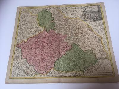 Stará mapa Čech  - Homann
