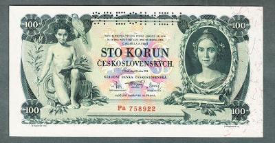 100 korun 1931 serie Pa perf. stav UNC