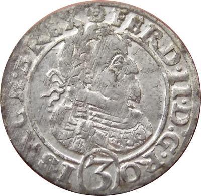 Ferdinand II. 3 Kreutzer 1626 HR Pekný stav!