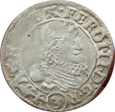 Ferdinand II. 3 Kreutzer 1636 Praha