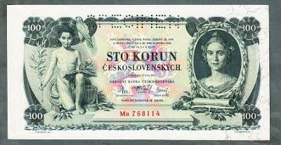 100 korun 1931 serie Ma perf. stav UNC