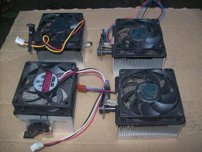 Chlazení procesoru socket  A  neboli  T 462, sada pro staré počítače