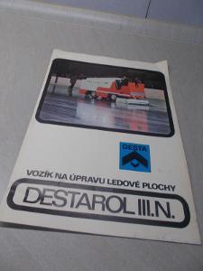 Informační retro brožura DESTAROL III.N. DESTA vozík na úpravu ledové