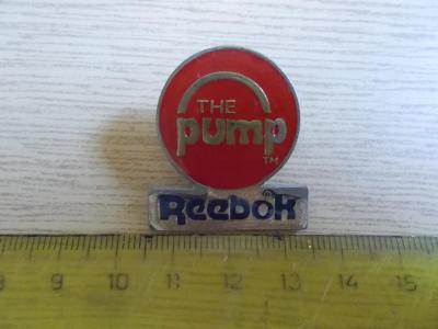 Starší připínací odznak smalt  reklama Reebok The Pump