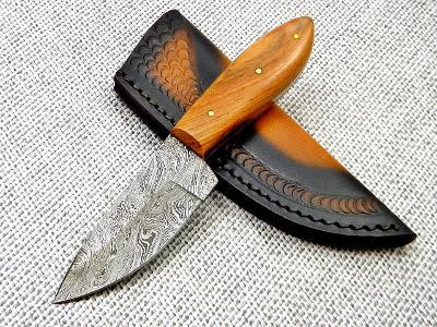 9/ Damaškový lovecky nůž. Rucni vyroba OLIVA