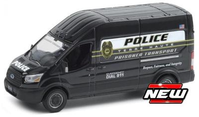 GREENLIGHT COLLECTIBLES 1/64 Ford TRANSIT POLICE, PRISONER INDIANA