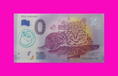 0 Euro souvenir bankovka ZOO JIHLAVA s razítkom
