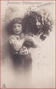 Děti * chlapec, květiny, kravata, atelier foto, gratulační * X014
