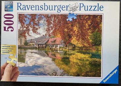 Puzzle RAVENSBURGER - Podzim - 500 dílků (větší dílky)