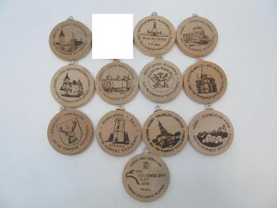 Turistické známky 12 ks