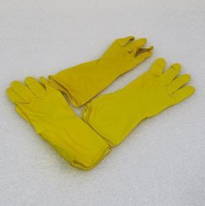 Latexové gumové rukavice s vložkou - vel. M , žluté