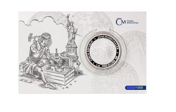 Stříbrná uncová investiční mince Tolar Česká republika 2021 ČÍSLOVÁNO - Numismatika