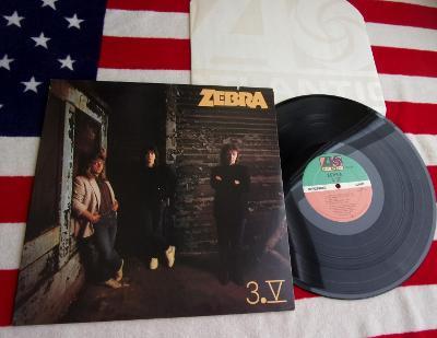 💥 LP: ZEBRA - 3. V., jako nové MINT!!!, 1st press USA 1986