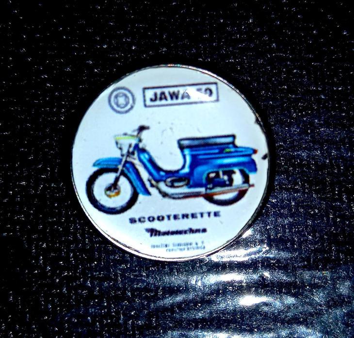 JAWA 50 SCOOTERETTE Mototechna, dle foto - stylové doplňky. - Faleristika