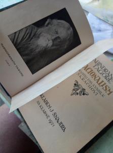 Nacionalism. Rabindranath Tagore (Thakur). J. Šnajdr Kladno 1921