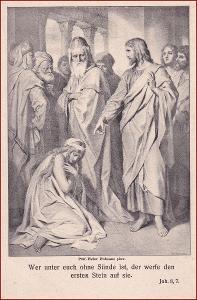 Ježíš * žena, lidé, svatý, náboženský motiv * X080