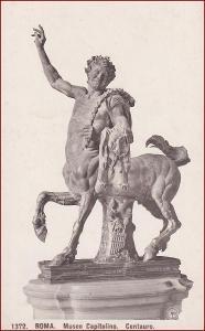 Socha (umělecká plastika) * Kentaur, koně, postava, zvíře * X085