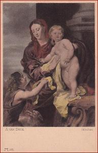 Madonna * žena, děti, svatý, náboženský motiv * X088