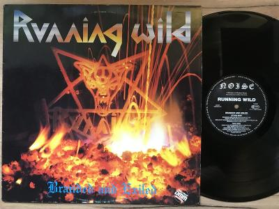 RUNNING WILD-BRANDED AND EXILED-LP 1985 NOISE VG+
