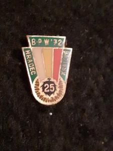 Odznak BPW Závod Míru 1972 Hradec Králové