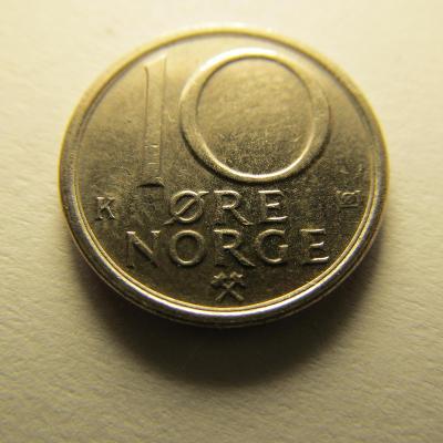 Norsko - 10 Ore 1984