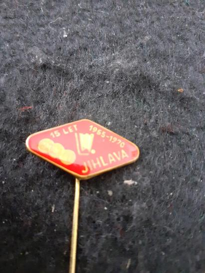 Odznak Dukla Jihlava - lední hokej, výroční 15 let 1955 - 1970 - Faleristika