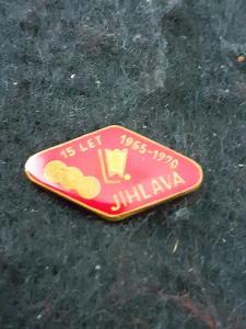 Odznak Dukla Jihlava - lední hokej, výroční 15 let 1955 - 1970