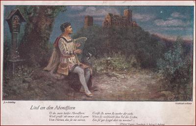 Mýtický motiv (Wagner) * Tannhäuser, Boží muka, hudebník, hrad * X126