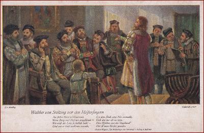 Mýtický motiv (Wagner) * Mistři pěvci norimberští, muž, lidé * X127