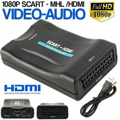 Převodník - adaptér AV - SCART na HDMI