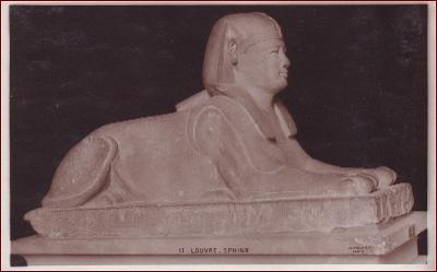Socha (umělecká plastika) * sfinga, egyptský motiv * X147
