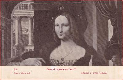 Leonardo da Vinci * žena, portrét, umělecká * X148